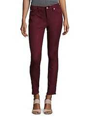 7 For All Mankind Gwenevere Snakeskin Ankle Jeans Merlot