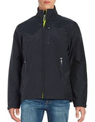 Vry Wrm Stand Collar Zip Front Jacket Winter Navy