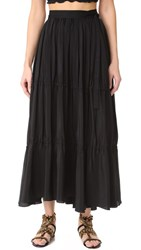 Tome Tiered Wrap Skirt Black