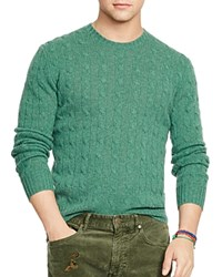 Polo Ralph Lauren Cable Knit Cashmere Sweater Stuart Green Heather