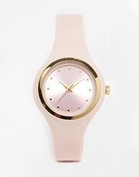 New Look Cute Silicon Nude Strap Watch Pink