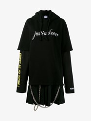 Vetements Justin 4Ever Cotton Blend Sweatshirt Dress Yellow White Black Silver Grey