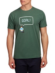 Hymn Goal Short Sleeve Graphic T Shirt Green