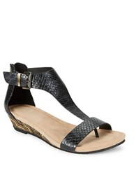 Kenneth Cole Reaction Great Gal 3 Wedge Heel Sandals Black