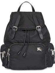 Burberry The Medium Rucksack In Nylon And Leather Black