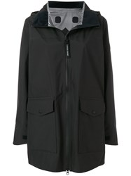 Canada Goose Wolfville Hooded Raincoat Black