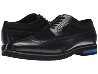 Armani Jeans Wingtip With Contrasting Heel Black Men's Lace Up Casual Shoes