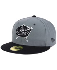 New Era Columbus Blue Jackets Gray Black 59Fifty Cap Gray Black