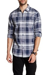 Burnside Long Sleeve Plaid Shirt Blue