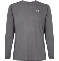 Under Armour Threadborne Streaker Striped Jersey T Shirt Charcoal