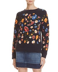 Whistles Embroidered Sweatshirt Navy