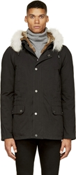Yves Salomon Black Fur Lined Parka