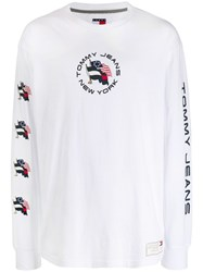 Tommy Jeans Summer Flag Printed T Shirt White