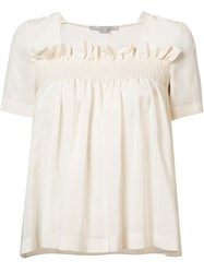 Stella Mccartney Ruffle Detail Blouse White