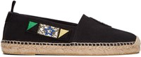 Saint Laurent Black Canvas Patches Espadrilles