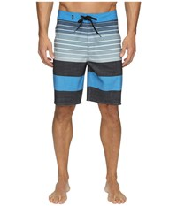 Vans Era Stretch Boardshorts 20 Black Compass Stripe Men's Swimwear Blue