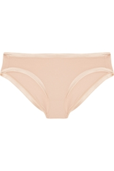 Eres Paradis Aurore Satin Trimmed Stretch Cotton Briefs