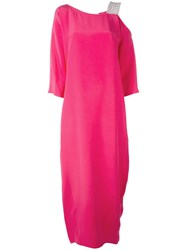 Gianluca Capannolo Embellished Strap Maxi Dress Women Silk 44 Pink Purple