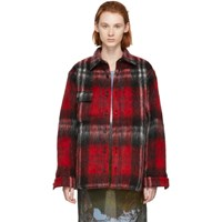Bless Red And Black Check Woodhacker Jacket