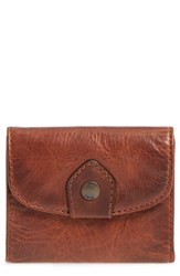 Frye Women's Melissa Medium Trifold Leather Wallet Brown Cognac