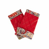 Gizelle Renee Page Red Leather Gloves With Bf Liberty Tana Lawn