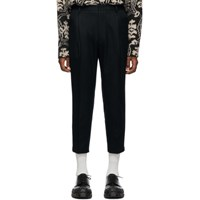 Wooyoungmi Navy Adjustable Waist Trousers