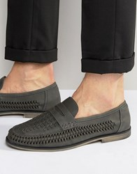 New Look Woven Loafer In Grey Grey