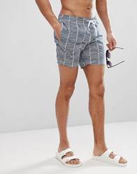 Lacoste All Over Logo Swim Shorts In Blue