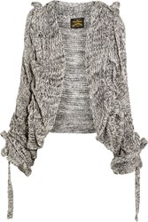Vivienne Westwood Cable Knit Cardigan Gray