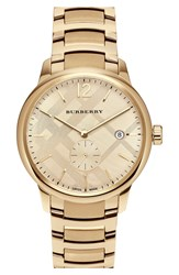 Burberry Check Stamped Bracelet Watch 40Mm Gold Gold