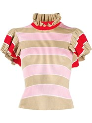 Msgm Knitted Ruffled Top 60