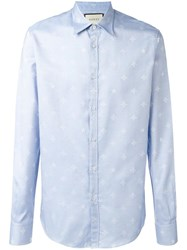 Gucci Bee Jacquard Duke Shirt Blue