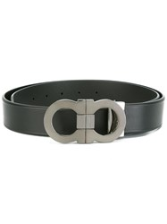 Salvatore Ferragamo Double Gancini Buckle Belt Black