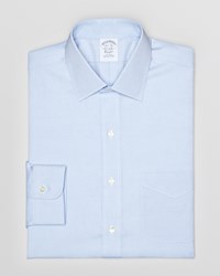 Brooks Brothers Pinpoint Solid Non Iron Classic Fit Dress Shirt Light Blue