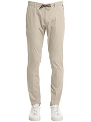 Berwich 17.5Cm Slim Stretch Cotton Poplin Pants