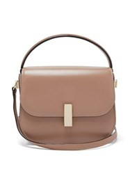 Valextra Iside Grained Leather Cross Body Bag Beige