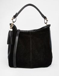 Oasis Suede Hobo Bag Black
