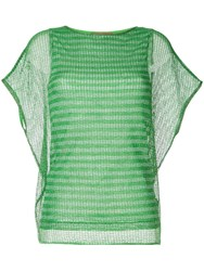 Missoni Mesh Knitted Top Green