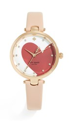 Kate Spade New York Holland Hearts Watch 34Mm Red Cream