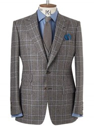 Chester Barrie Flannel Guarded Glen Check Ebury Suit