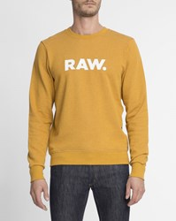G Star Yellow Round Neck Mattow Sweatshirt