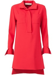 Marni High Low Hem Tunic Red