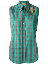No21 Embellished Sleeveless Shirt Green