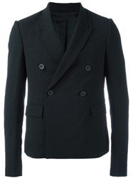 Rick Owens Double Breasted Blazer Black