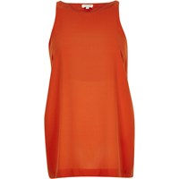 River Island Womens Dark Orange Split Side Vest