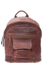 Men's Will Leather Goods 'Silas' Backpack Metallic Cognac