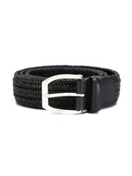 Orciani Braided Belt Blue