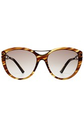 Roland Mouret Oversize Sunglasses Brown