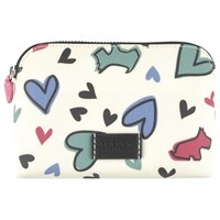 Radley Love Me Love My Dog Small Cosmetic Case Ivory
