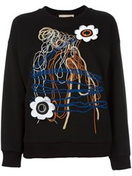Christopher Kane Daisy Lace Sweatshirt Women Cotton S Black